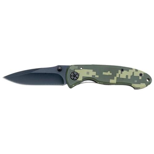 Rostfrei Liner Lock Knife with Camouflage Coated Aluminum Handle