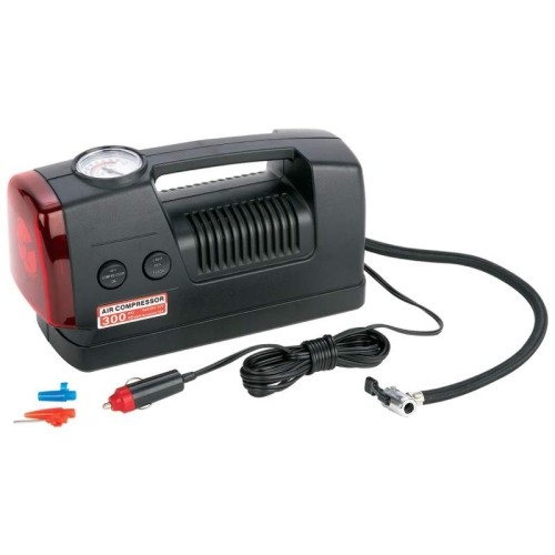 Maxam 3-in-1 300psi Air Compressor with Air Gauge and Flashlight