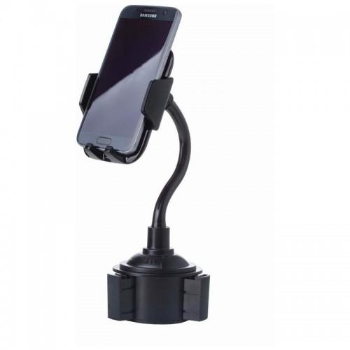 Adjustable Car Cup Holder Phone Mount with Tilt/Swivel Movement