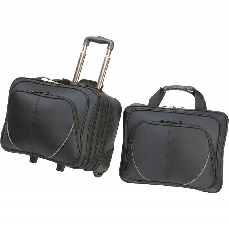 Maxam 2pc Rolling Trolley Business Overnight Bag With Laptop
