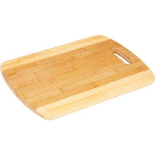 BamBoo Studio Bamboo Two-Tone Cutting Board with Hanging Handle