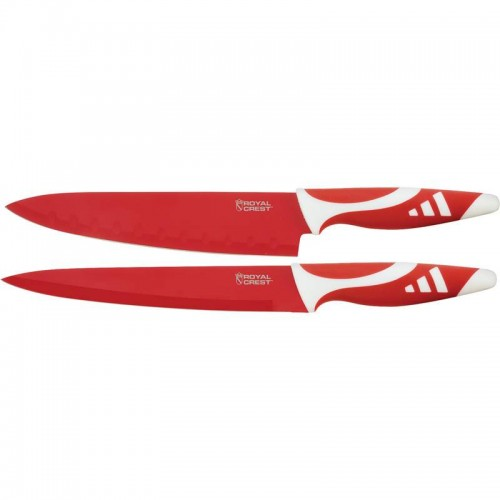 Royal Crest 2pc Non-Stick Coated Cutlery Set with Leymar Handles