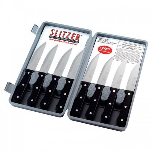 Slitzer 8pc Professional German-Style Jumbo Steak Knives