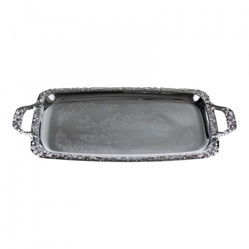 Kitchen Pride Serving Tray With Polished Nickel-Plated Finish
