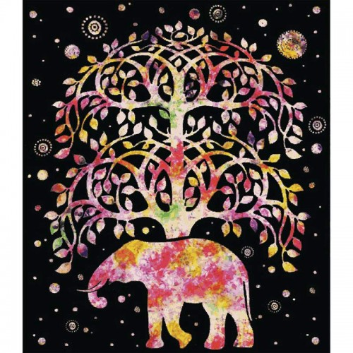 "Tree of Life Luxury Polyester Blanket Measures 79"" x 91"""