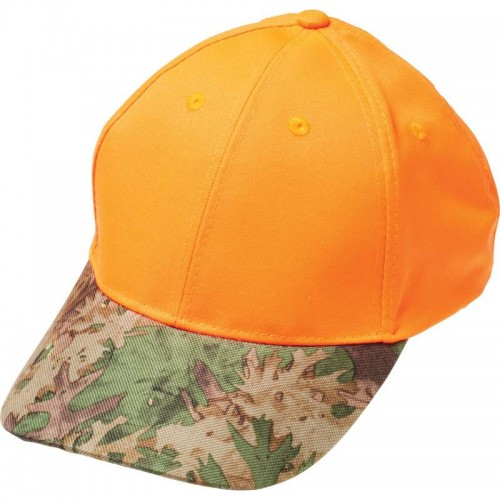 Orange Hunter's Adjustable Cap with Invisible Camouflage Bill