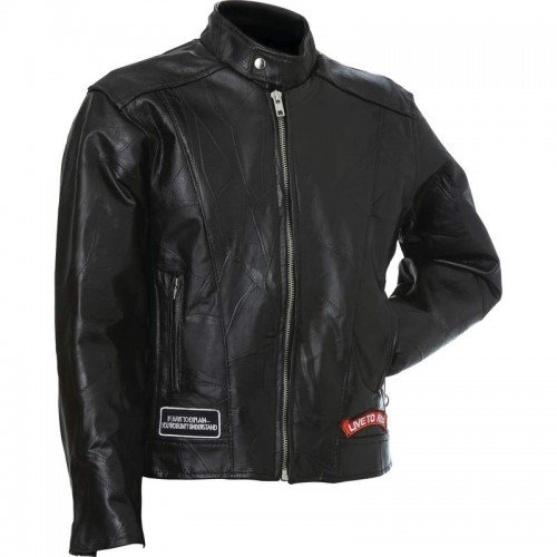 Diamond Plate Rock Design Buffalo Leather Motorcycle ...