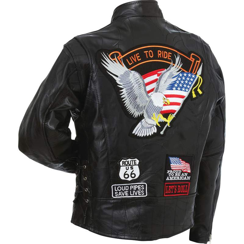 S Diamond Plate Rock Design Genuine Buffalo Leather Vest