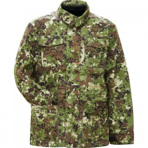 Digital Camouflage Jacket with Inner and Outer Pockets - X-Large