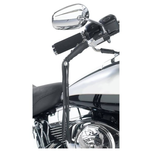 Diamond Plate Solid Genuine Leather Black Motorcycle Lever Covers