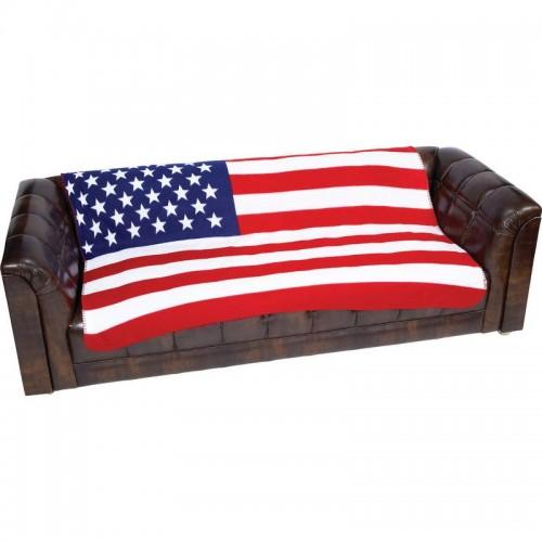 Taylor Layne United States Flag Print Polyester Fleece Throw