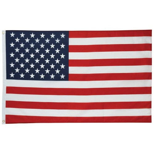 5' x 3' 100% Polyester Material United States Flag with 2 Grommets