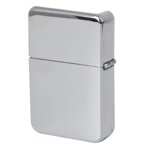 Star Polished Chrome Finish Lighter in Black Tin Case