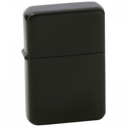 Star Matte Black Finish Lighter in Black Tin Case