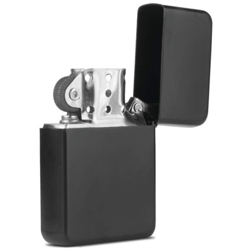 Star Matte Black Finish Lighter in Black Tin Case