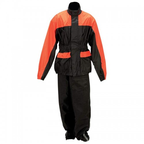 Diamond Plate Motorcycle Waterproof Rain Suit - Size 2X/3X