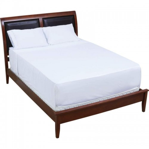 300 Thread Count White Organic Bamboo Queen Size Sheet Set
