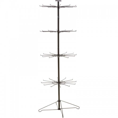 4-Tier 12 Hook Spinner Display Includes 12 Hooks per Level
