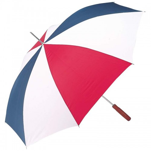"""48"""" Auto Open Umbrella with Red, White and Blue Alternating Nylon Panels"""