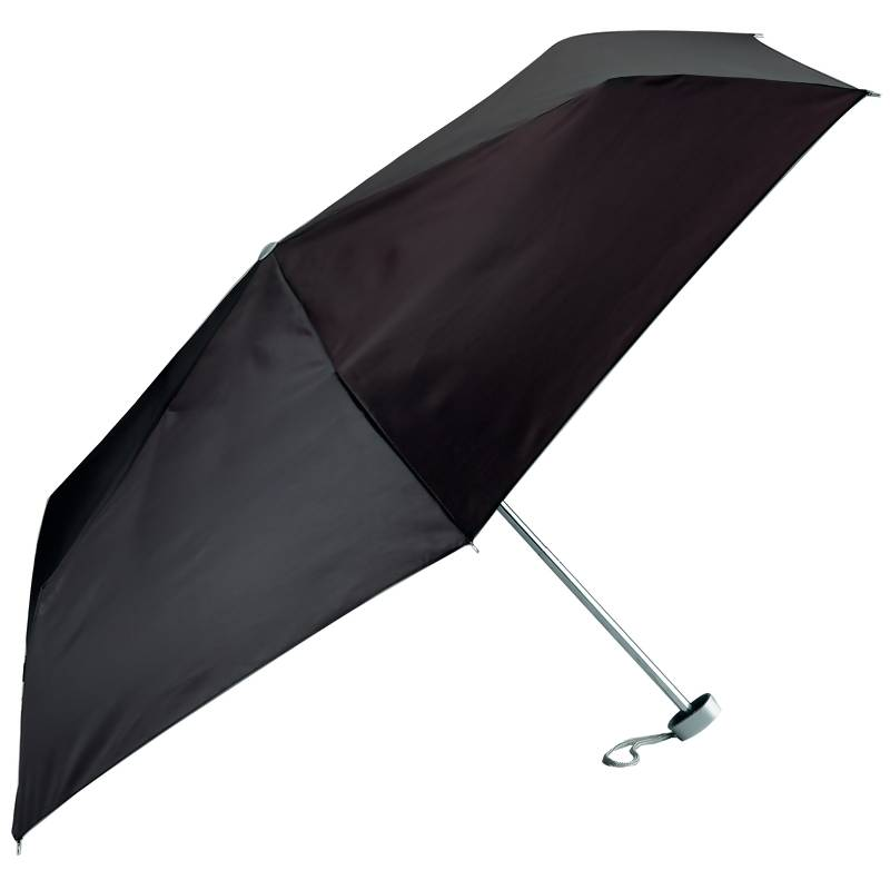 All Weather 40 Quot Black Mini Folding Umbrella With Uni Chrome Ribs Gfumlt