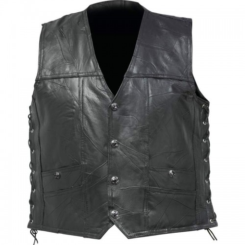 Rock Design Buffalo Leather Concealed Carry Vest - Size XL
