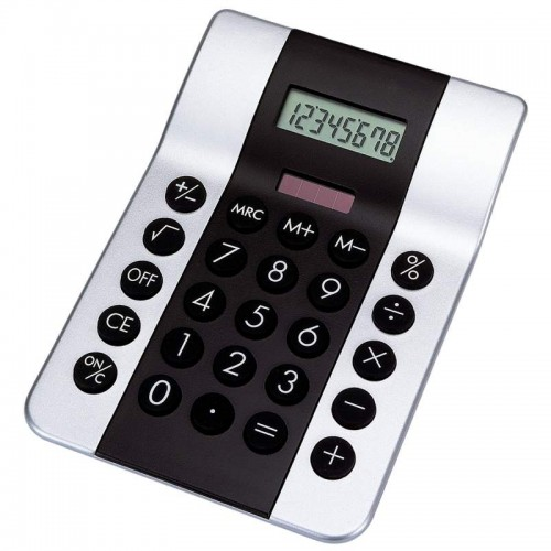 Mitaki-Japan Dual-Powered Calculator with 8-Digit Display