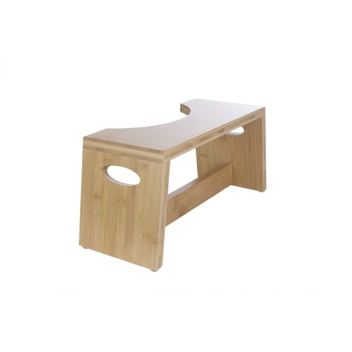 Cool Stool by MAXAM Bamboo Toilet Stool with Non-Skid Feet