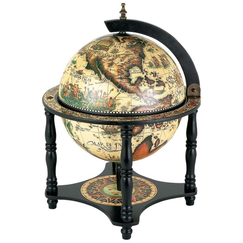 Kassel 13 hhglbl330 for 16 inch floor old world bar globe cart