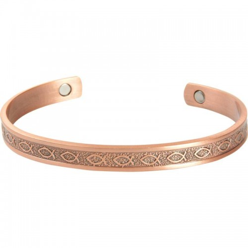 Navarre IP Rose Gold Plated Copper Bracelet with Two Magnets