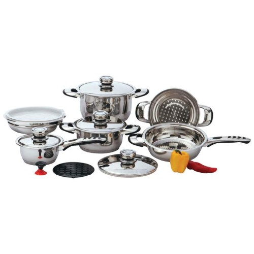 Chef's Secret 12pc 9-Ply Heavy-Gauge Stainless Steel Cookware Set