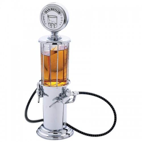 1 qt Gas Pump Beverage Dispenser Holds 2 Different Beverages