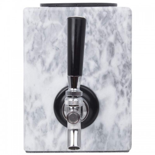 Polished Marble Liquor Dispenser with Stainless Steel Tap