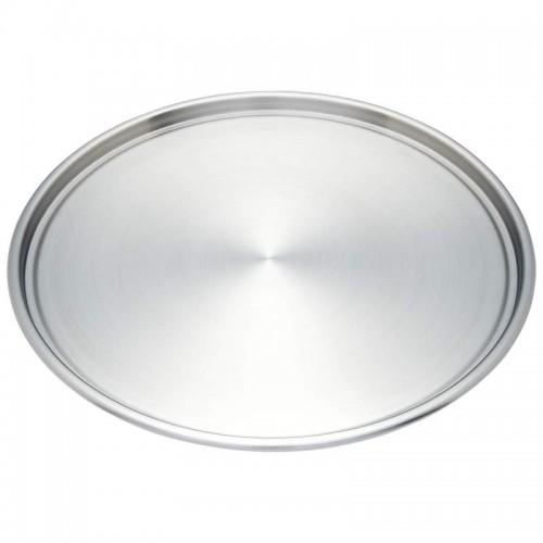 """Maxam Stainless Steel Pizza Pan Measures 12-3/4"""" in Diameter"""