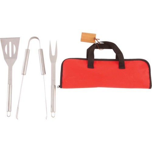 Chefmaster Stainless Steel Barbeque Tool Set with Tube Handles