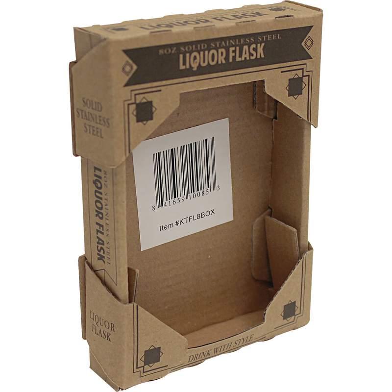 brown window box for 8oz flask ktfl8box. Black Bedroom Furniture Sets. Home Design Ideas