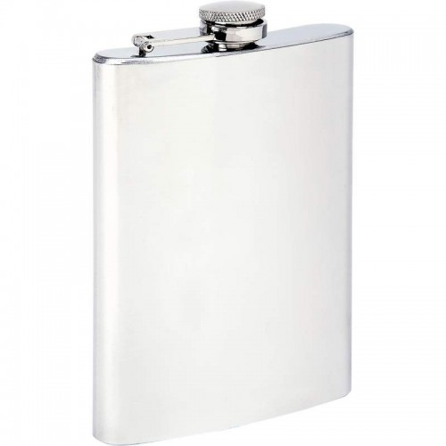 Maxam 8 oz Stainless Steel Flask with Screw Down Cap