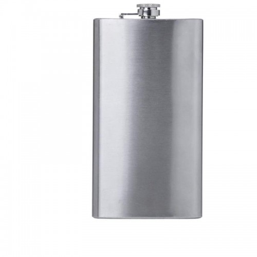 Maxam 12oz Stainless Steel Flask with Screw-Down Cap