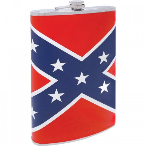 Be A Rebel 64oz Stainless Steel Flask with Rebel Flag Design