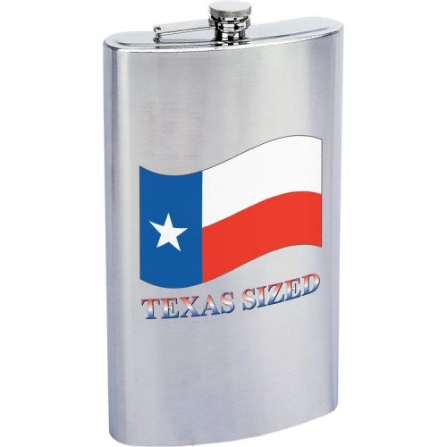 Maxam 1 Gallon Stainless Steel Flask with TEXAS SIZED Imprint