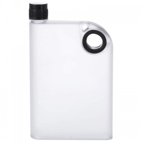 12oz Notebook Style Flask with Lightweight Translucent Flask Body