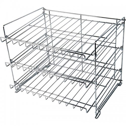 Wyndham House  3-Layer Chrome Wire Can Rack