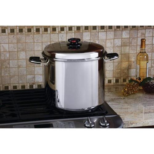 24qt 12-Element Waterless Stockpot with Deep Steamer Basket