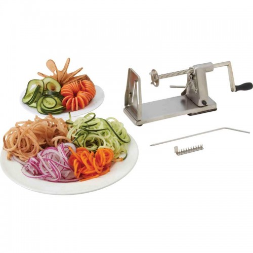Maxam Stainless Steel and Chrome-Plated Vegetable Spiral Slicer