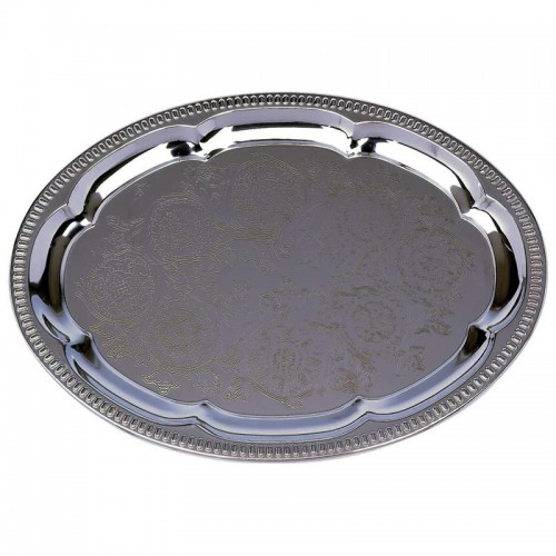 Sterlingcraft Oval Serving Tray Plated to Never Need Polishing
