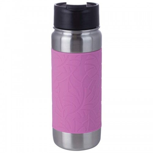 18 oz Pink Double Wall Stainless Steel Vacuum Bottle