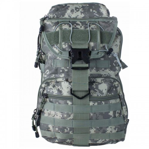 Camouflage Backpack with Chest Strap and Padded Mesh Backing
