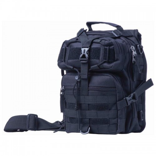 "Extreme Pak 11"" Black Polyester Sling Backpack"