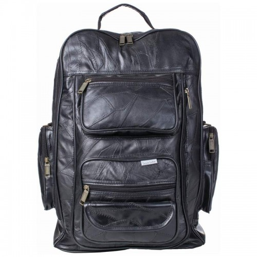 Embassy Italian Stone Design Black Leather Trolley/Backpack