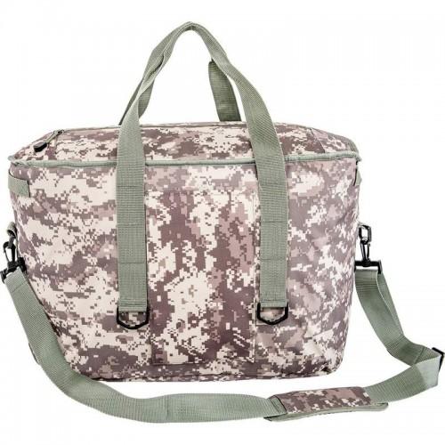 Large Digital Camouflage Cooler Bag with Padded Shoulder Strap