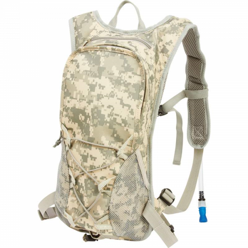 2qt Digital Camouflage Hydration Pack with Padded Back and Straps